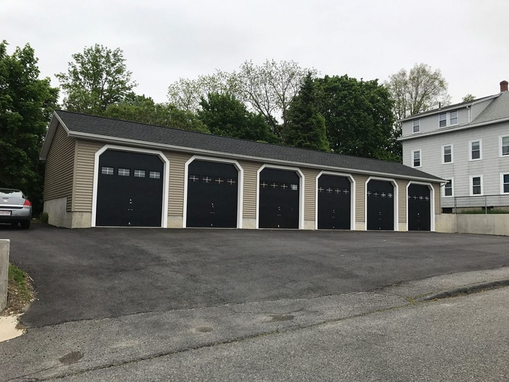 Six-bay garage